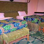 Twin beds at Le Bambou Gorilla Lodge