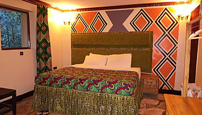 Single bedroom at Le Bambou Gorilla Lodge